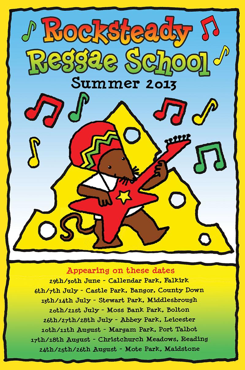 Rocksteady Reggae School Poster