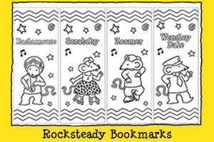 Print-out Activities Colour Me In Rocksteady Reggae School Bookmarks
