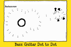 Rastamouse Print-out Activities - Bass Guitar Dot to Dot
