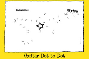 Rastamouse Print-out Activities - Guitar Dot to Dot