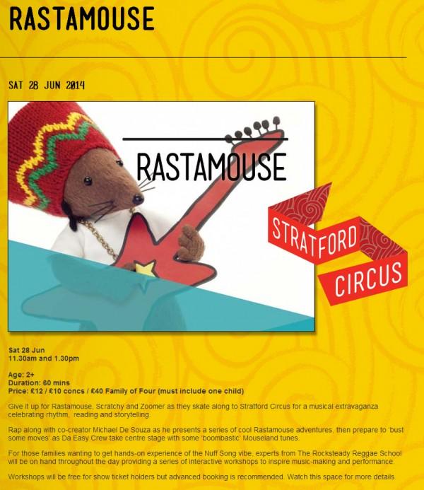 Rastamouse-Stratford-Circus-2014 (details)