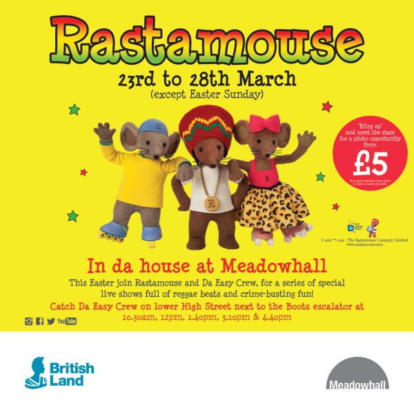 Rastamouse In Da House - Meadowhall 2016