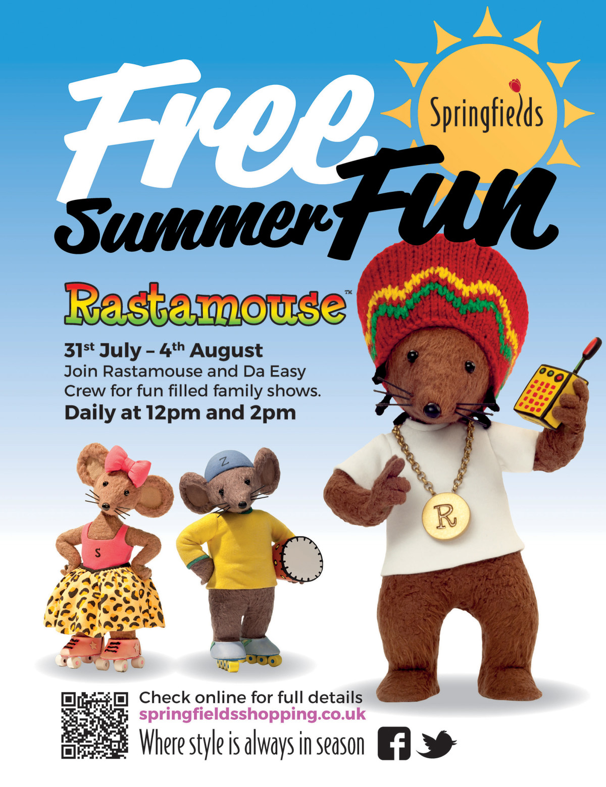Rastamouse - Summer Fun Springfield Shopping 2017 Poster