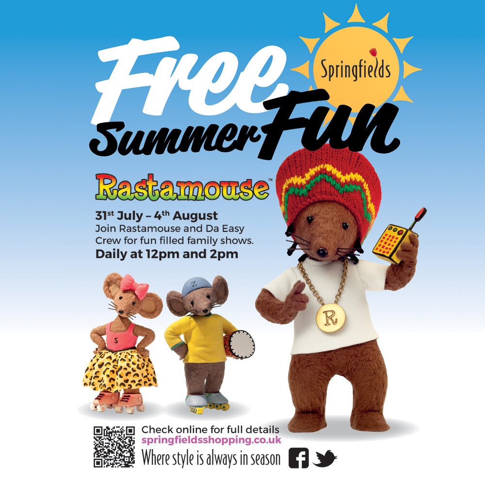 Rastamouse - Summer Fun Springfield Shopping 2017 Poster (IG)